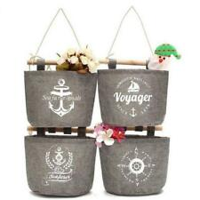 Home Wall Hanging Storage Bag Sundries Organizer Hanger Cotton Linen Bags CO