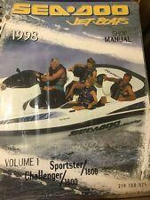 GENUINE SEA DOO JET BOAT SERVICE REPAIR MANUAL 1998 SPORTSTER & CHALLENGER 1800