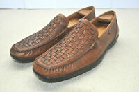 ECCO Driving Shoes Woven Cognac Leather Vamp Boat Shoes Euro 46 Men 12 to 12.5 M