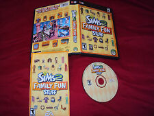 SIMS 2 FAMILY FUN STUFF PC Disc Manual Art And Case VG To Nrmnt Has Install Code