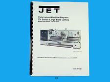 Jet   GH-2680ZH, GH-26120ZH  Lathe  Parts List & Electrical Diagram  Manual *216