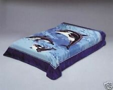 Original Solaron Korean Blanket Thick Mink Plush Twin/Full size Dolphin