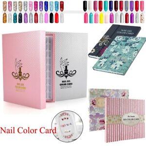 216 Colors Nail Art Display Book Nail Gel Polish Sticker Tip Color Storage Chart