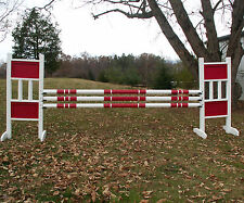 Horse Jumps Double Solid Panels Jumper Wing Standards Pair/6ft Color Choice #260