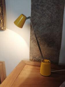 DESIGN! 60er Tischleuchte LAMPETTE Halogen GELB Designklassiker RR-Leuchten
