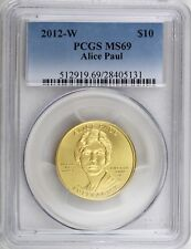 2012 W $10 Alice Paul First Spouse Series 99.99% Pure Gold 1/2 oz. PCGS MS69