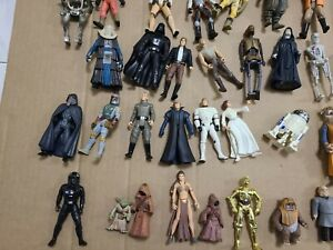 RARE Vintage Star Wars Collection Action Figures & Accessories Weapons Lot 1997