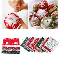 Kit di tessuti di cotone misti natalizi Regali di alci pupazzo di neve per borse