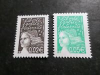 FRANCE 2002, LOT 2 timbres 3444, 3445,  MARIANNE LUQUET, neufs** MNH STAMPS