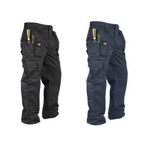 Lee Cooper Workwear Mens Heavy Duty Cargo Combat Work Knee Pad Pocket Trousers