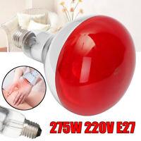 275W E27 Basking Infrared Heat Light Lamp Bulb For Reptile Pet Brooder !