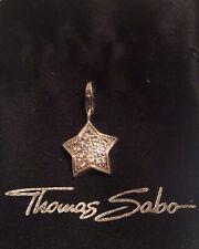 Thomas Sabo charm: sparkling star, pave cubic zirconia & silver