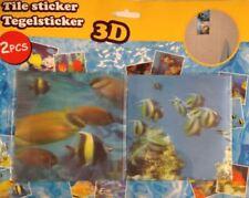 Décorations murales et stickers pour la salle de bain, 3D