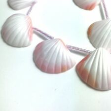 """15.5""""  - Natural Pink Queen Conch Shell Freeform Shell Beads , NEW DIY Design"""