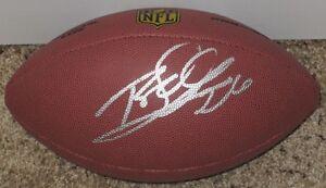 ROD WOODSON Signed Wilson Premier Off.Size NFL Football-PITTSBURGH STEELERS-JSA