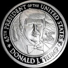 ONE Toz PURE .999 PROOF SILVER TRUMP 2017 INAUGURATION COIN THE ONLY ONE TO OWN