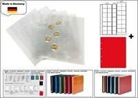 1 LOOK 1-7393-R Münzhüllen PREMIUM 35 Fächer Für Münzen bis 28 mm + rote ZWL