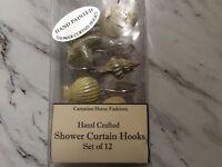 Handpainted Shower Hooks Beach Shells New Nautical
