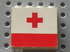LEGO Panel with Red Cross Pattern ref 4215ap02 / Set 6691 &  6680  Ambulance