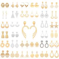 Earrings Ear Stud Dangle Drop Jewelry Womens Geometric Gold Silver Plated Pearl