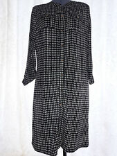 NEW - Charter Club - Black & White Patterned Long Sleeve Smart Dress - Size XL