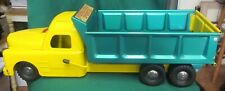 RARE 1940s Structo 250 GREEN YELLOW HYDRAULIC LIFT DUMP TRUCK EUC!