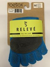 ToeSox Women's Releve Full Toe Grip SOCKS  M NWT dance yoga ballet pilates