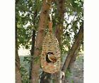 Bird house Hanging Grass Roosting Pocket Teardrop Organic Birdhouse
