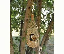 Bird house Hanging Grass Roosting Pocket Teardrop Organic Birdhouse