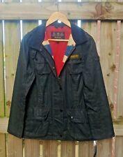 Barbour Ladies' Antique Union Jack International Wax Jacket – Black RRP £279