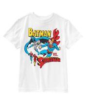 NWT Boy's M 7-8 CRAZY 8 BATMAN VS SUPERMAN White T-shirt Top