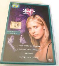 BUFFY L AMMAZZAVAMPIRI STAGIONE 3 DISCO 4 DVD SERIE TV OTTIMO ITALIANO!!
