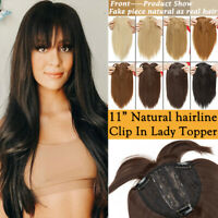 Topper Piece Silk 100% Natural As Human Hair Topper Hairpiece Toupees US Post lk