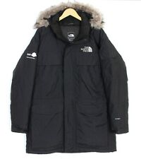 THE NORTH FACE MCMURDO Fur Hooded Black Down Winter Parka Jacket Men Size L