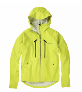 Madison Zenith Men's M:TEC Waterproof Cycling Jacket Krypton Lime Medium NEW!
