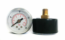 Pressure Gauge 0/160 PSI & 0/11 Bar 40mm Dial 1/8 BSPT Back connection.