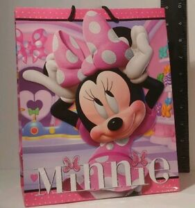 "Hallmark Minnie Mouse Birthday gift bag w/ 2 tissue sheets (L7.75""xH9.5""xW4.25"")"