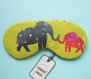 Eye Sleep Mask Soft  Cotton Elephant Gift Blackout Blindfold Comfy Relax Ing UK