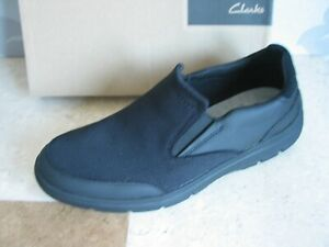 NEW CLARKS CLOUD STEP TUNSIL STEP LEATHER & KNIT CASUAL SHOES UK SIZE 8 & 10.5