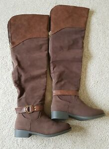 Long Brown Boots Size Uk 6 Shoedazzle NEW