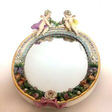 Meissen Porcelain Picture Mirror Frame With Puti
