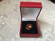 More details for vintage enamelled national blood service badge in case, 50 times pin badge