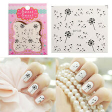 Beauty Water Transfer Decals Nail Art Tips DIY Dandelion Fly Seeds Wrap Stickers