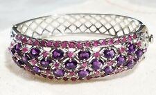 Sterling silver Amethyst & Ruby Bangle Bracelet Qvc Evine Hsn Jtv Ross Simons