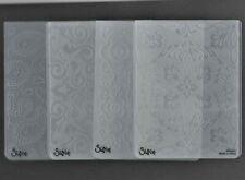 4 Sizzix Embossing  Folders, (used)