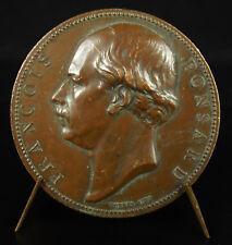 Médaille François Ponsard poète inauguration de sa statue à Vienne Isère en 1870