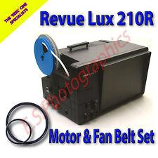 REVUE Lux 210 R 8mm Cine TV Projector Belt Set of 2 (Motor Belt & Fan Belt)
