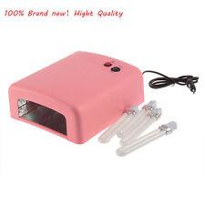 36W UV Nail Art Lamp Gel Curing Tube Light Dryer 220V EU Plug New DI