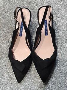 Stuart Weitzman Women's Heels size 38 1/2   Black suede