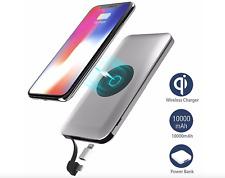 qi Powerbank 2 in 1 induktive Ladestation für Apple Samsung Google LG Smartphone